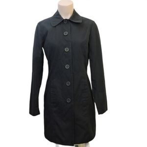 Eddie Bauer black long trench pea coat size Xsmall